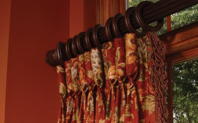 Picture of drapes with goblet pleat