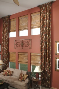 Picture of drapes with a flower pattern