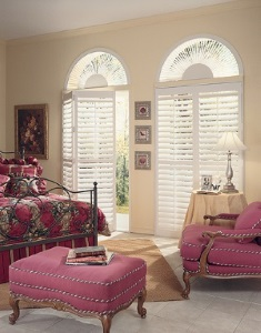Picture of Arch Shaped Window with custom window treatment